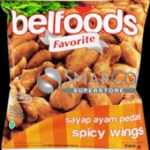 BELFOODS SPICY WINGS 500gr  1017140020008  8995229800109