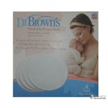 DR.BROWN WASHABLE BTRAST PADS (4-PACK) 6061010060001 851606002048