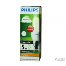 PHILIPS ESSENTIAL 5W WW E27 220-240V 1CT12 KOTAK 3032120010021 8718291791812