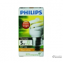 PHILIPS TORNADO 5W WW E27 220-240V 1CT12 KOTAK 3032120010053 8718291777137