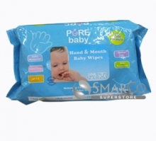 PURE BABY HAND & MOUNTH BABY WIPES 60`S AVERA 8995084900518