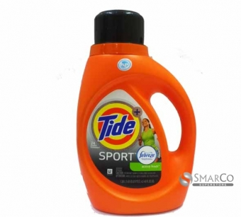 TIDE SPORT LAUDRY DETERGENT WITH FEBREZE ACTIVE FRESH 037000875154