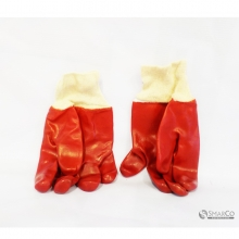 WHOLESALE RED PVC PROTECTION GLOVES RED 10027328 8992017310802 2024010010485