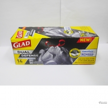 GLAD FORCE FLEX LARGE TRASH 14`S 012587704196