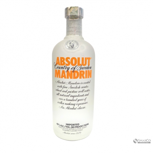 ABSOLUT VODKA MANDARINE ORANGE 750 ML 7312040050758