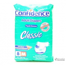 CONFIDENCE CLASSIC ADULT DIAPERS M 8`S 1011050010041 8992959053232