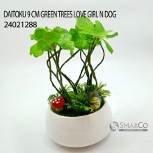 DAITOKU 9 CM GREEN TREES LOVE GIRL N DOG 24021288