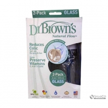 DR.BROWN GLASS BOTTLE 2 PACK 4 OZ 6061010040088 072239001639