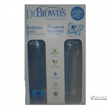 DR.BROWN SN BLUE DECO BOTTLE + PACIFIER GIFT SET, 2 PACK-USA 250 ML 6061010040132 072239301241
