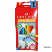 FABER CASTLE JUNIOR TRIANGULAR COLOUR 20 3036030010029 8991761345023