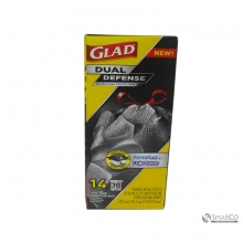 GLAD FORCE FLEX LARGE TRASH 14`S