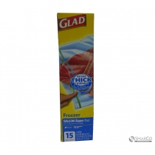 GLAD ZIPPER FREEZER 15`S