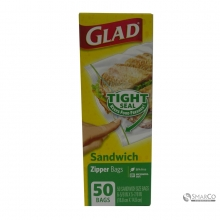 GLAD ZIPPER SANDWICH 50`S