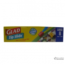 GLAD ZIPPER SLIDER 8`S