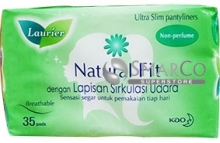 LAURIER PANTYLINER NATURAL FIT NON PARFUM PACK 35S 1011050020015 6908594420010