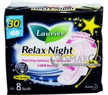 LAURIER RELAX NIGHT WING 30 PACK 8 SHEET 1011050030067 8851818936805