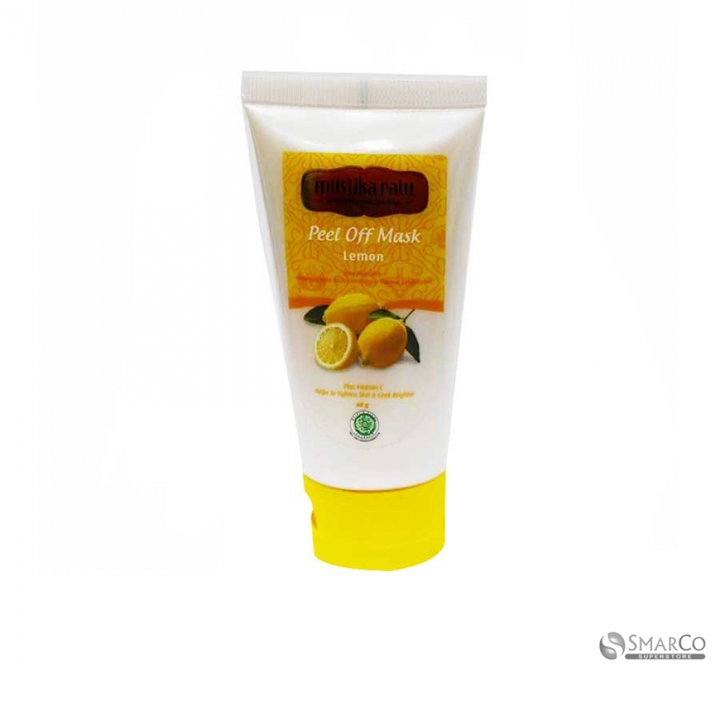 MUSTIKA RATU PEEL OFF MASK LEMON 60 GR 1015110020603 8995151111649