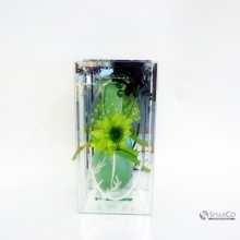 NEW DESIGN GREEN GLASS VASE DECOR GREEN 10133693 2024010010724 8992017312332