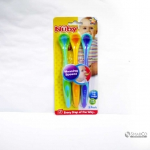 NUBY 3PK FUN GRIP WEANING SPOON 5383 1015030060059 48526053834