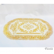 OVAL GOLDEN PVC PLACEMAT GOLD10009616  8992017308229
