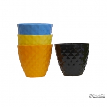 PLASTIC VASE COLORS MIX R1703160159 18 X 16.5 CM 2025010010172 8992017312974