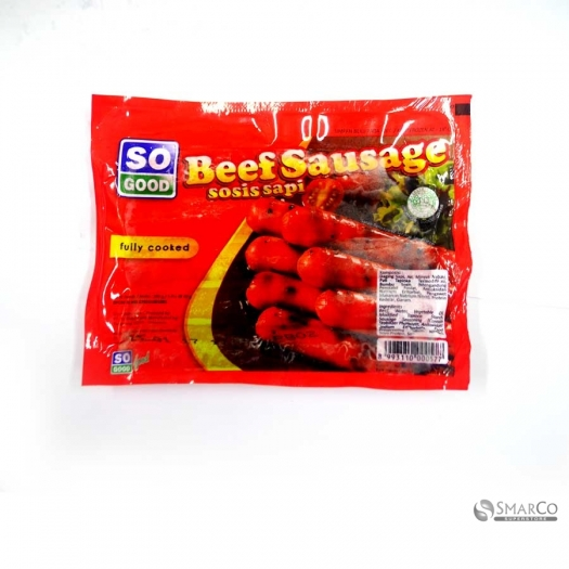 SO GOOD BEEF SAUSAGE @5 PCS PACK 200 GR 1017140030017 8993110000577